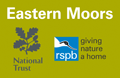 Eastern Moors, National Trust and RSPB Logos